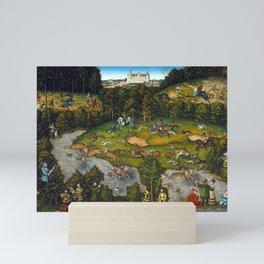 Lucas Cranach Hunting near Hartenfels Castle Mini Art Print