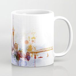 Auckland New Zealand Cityscape Coffee Mug