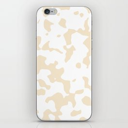 Large Spots - White and Champagne Orange iPhone Skin