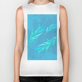 Eucalyptus leaves blue Biker Tank
