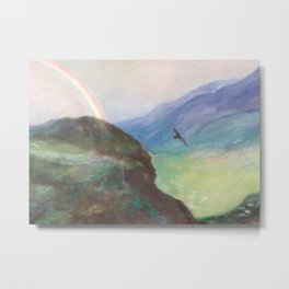 Belle's Journey: Over the Mountains Metal Print