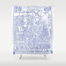 PRINCETON university map NEW JERSEY dorm decor Shower Curtain