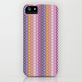 Hexagons in Maui Sunset iPhone Case