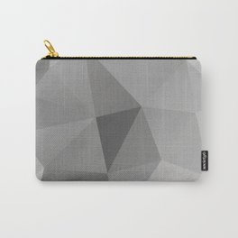 Grey Geometric Polygon Pattern Carry-All Pouch