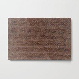 NYC Big Apple Manhattan City Brown Stone Brick Wall Metal Print