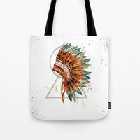 ethnic Tote Bags featuring ethnic by limonlukusburnu