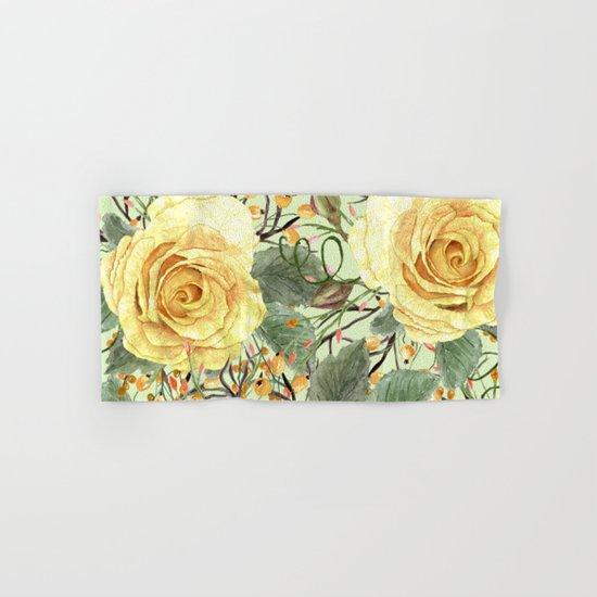 Watercolor Roses #3 Hand & Bath Towel