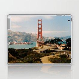 Golden Gate Bridge shot on film Laptop & iPad Skin