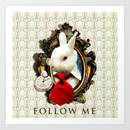 Follow me Art Print