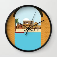arab Wall Clocks featuring Arab city by Design4u Studio