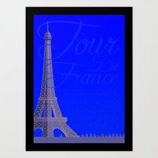 Tour De France Eiffel Tower Art Print