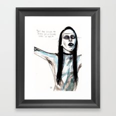 Now i'm not an artist / manson Framed Art Print