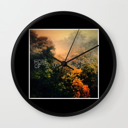 Hope in the Mist Wall Clock