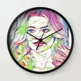 Denise Richards (Creative Illustration Art) Wall Clock