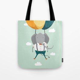 Elephant in flight Tote Bag
