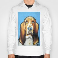 the hound Hoodies featuring Hound Dog by Animal Art By Sarah