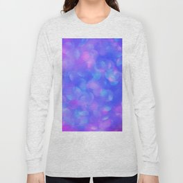 Turquoise Purple Bubbles Long Sleeve T-shirt