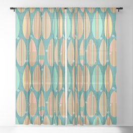 Surfboards Sheer Curtain