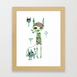 punk gree Framed Art Print