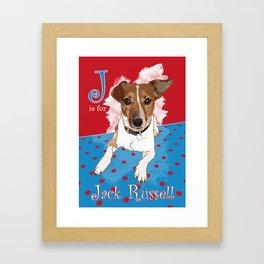 J is for Jack Russell Framed Art Print