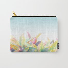 After the rain / Tropical Croton Leaves 4 Carry-All Pouch