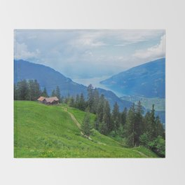 Above Interlaken Throw Blanket
