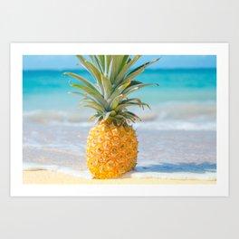 Aloha Pineapple Beach Kanahā Maui Hawaii Art Print