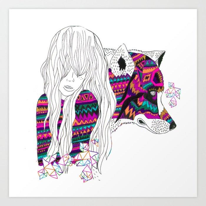 ▲SHE-WOLF▲ Art Print
