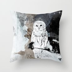 The Owl is a reflection Throw Pillow