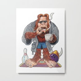 Bigfoot Lebowski Metal Print