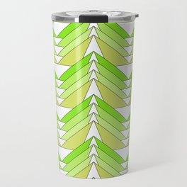 geometries abstract green triangles Travel Mug