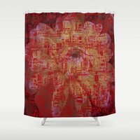 techno Shower Curtains featuring Techno Asian by DesignsByMarly