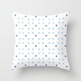 stars 124 - Blue Throw Pillow