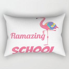 100 Flamazing Days of School Flamingo 100th Day For Teachers T-Shirt Rectangular Pillow