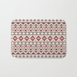 Aztec Essence Ptn IIIb Red Cream Taupe Bath Mat