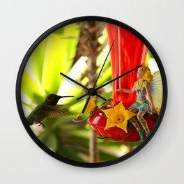 The Faerie's Nectar Wall Clock