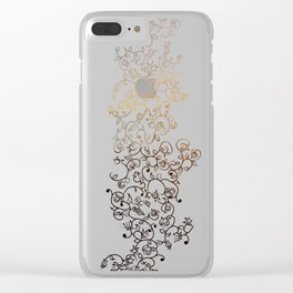 Flower Decal Patterning Clear iPhone Case