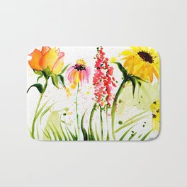 flower field Bath Mat