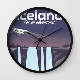"""Iceland """" For an adventure!' Wall Clock"""