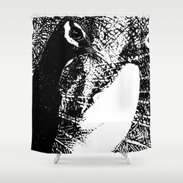 Nude Peacock Woman Shower Curtain