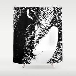 Nude Peacock Woman Shower Curtain
