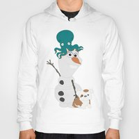 olaf Hoodies featuring Olaf & Pals by Cheshire Giraffe
