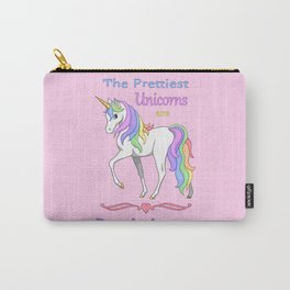 Pretty Rainbow Unicorn Born In August Birthday Carry-All Pouch