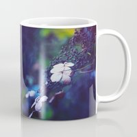 hydrangea Mugs featuring Hydrangea by Nikita Gill
