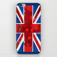 union jack iPhone & iPod Skins featuring Union Jack by Riley