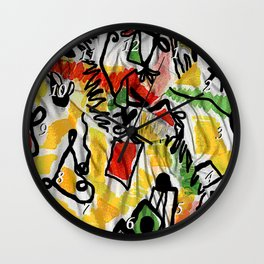 IS scarf 2 Relaxed Wall Clock