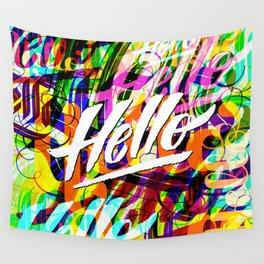 Hello Hello Hello Wall Tapestry