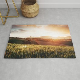 tuscany countryside in summer Rug