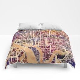 Washington DC City Street Map Comforters