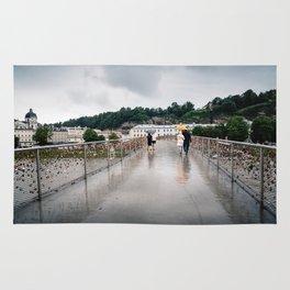 Padlock bridge in Salzburg Rug
